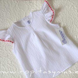 Camisa blanca gomitas de ANCAR, verano 2021
