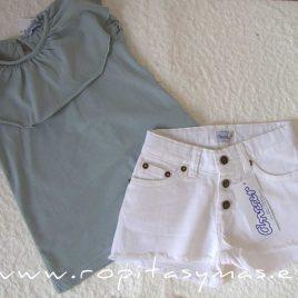Short jeans blanco de ANCAR, verano 2021