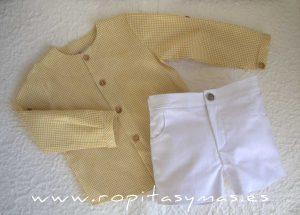 Pantalón corto blanco PALM TREE de EVE CHILDREN