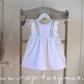 Vestido blanco bandas PALM TREE de EVE CHILDREN, verano 2021
