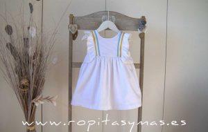 Vestido blanco bandas PALM TREE de EVE CHILDREN