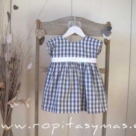 Vestido vichy azul FLORENCE de EVE CHILDREN, verano 2021