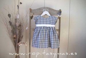 Vestido vichy azul FLORENCE de EVE CHILDREN