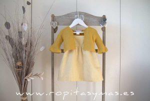 Vestido vichy amarillo PALM TREE de EVE CHILDREN