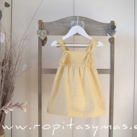 Vestido vichy amarillo PALM TREE de EVE CHILDREN, verano 2021