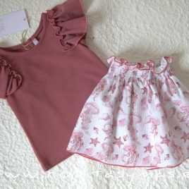 Conjunto falda marsala JELLYFISH de EVE CHILDREN, verano 2021