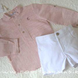 Camisa niño rayas marsala JELLYFISH de EVE CHILDREN, verano 2021