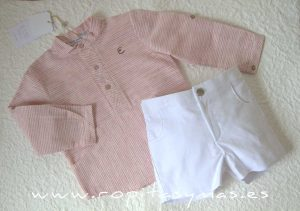Camisa niño rayas marsala JELLYFISH de EVE CHILDREN