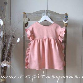 Vestido rosa volantes JIRAFFE de EVE CHILDREN, verano 2021