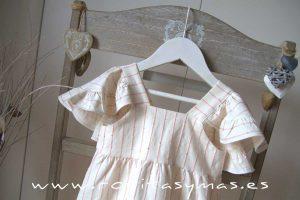 Vestido raya lurex rosa JIRAFFE de EVE CHILDREN
