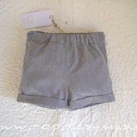 Pantalón corto vichy negro JIRAFFE de EVE CHILDREN, verano 2021