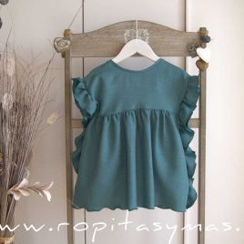 Vestido azul volantes LAGOON de EVE CHILDREN, verano 2021