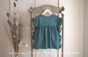 Vestido azul volantes LAGOON de EVE CHILDREN