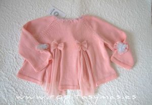 Chaqueta larga rosa TOPITO de KAULI