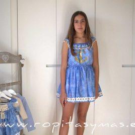 Vestido azulado aguas MENORCA de KAULI, verano 2021