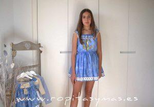 Vestido azulado aguas MENORCA de KAULI