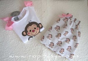 Falda blanca MONITOS de MON PETIT BONBON