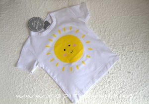 Camiseta blanca SOL niño de MON PETIT BONBON