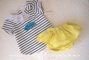 Conjunto bebé niña camiseta PEZ de VALENTINA BEBÉ