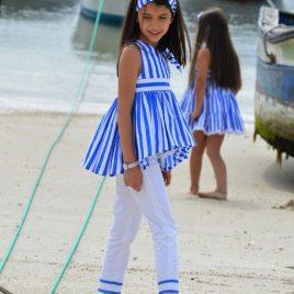 Conjunto pantalón pitillo rayas SAILOR de NOMA, verano 2021