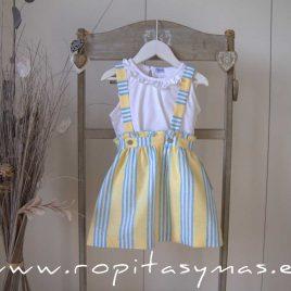 Falda amarillas RAYAS azules de ANCAR, verano 2021