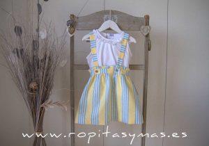 Falda amarillas RAYAS azules de ANCAR