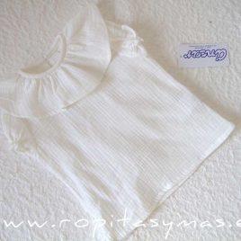 Camisa blanco roto volante de ANCAR, verano 2021