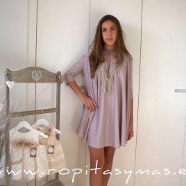 Vestido rosa lúrex AURA de BELLA BIMBA, verano 2021