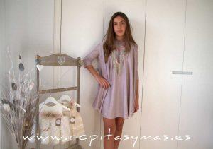 Vestido rosa lúrex AURA de BELLA BIMBA