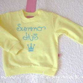 Sudadera amarilla niño NARA de EVA CASTRO, verano 2021