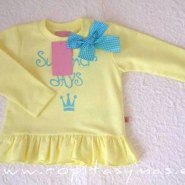 Sudadera niña amarilla NARA EVA CASTRO, verano 2021