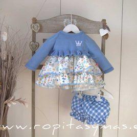 Jersey niña corto azulado ARIA de EVA CASTRO, verano 2021