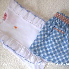 Conjunto falda cuadros ARIA de EVA CASTRO, verano 2021
