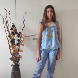 Blusón azulado MENORCA de KAULI, verano 2021
