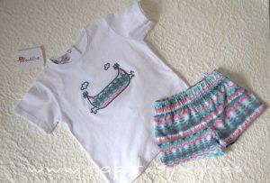 Camiseta blanca SAUCE canoa de MARI CRUZ