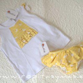 Camiseta blanca patos ABETO de MARI CRUZ, verano 2021