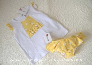 Camiseta blanca patos ABETO de MARI CRUZ