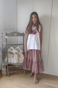 Falda tul rosa DEA de BELLA BIMBA