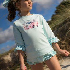 Conjunto sudadera-braga niña FURGO BOMBAY  LA MARTINICA, verano 2021