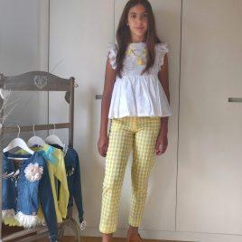 Conjunto pantalón pitillo vichy OLIVIA de NOMA, verano 2021