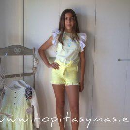 Conjunto short niña NARA de EVA CASTRO, verano 2021