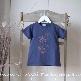 Camiseta azul PALMERA de ANCAR, verano 2021