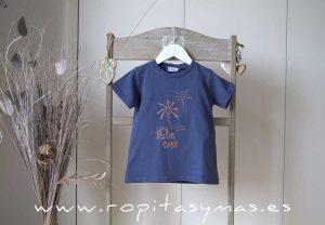 Camiseta azul PALMERA de ANCAR