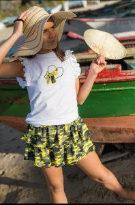 Conjunto camiseta y falda KATAR de LA MARTINICA