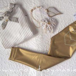 Pantalón leggin polipiel dorada AMAZONA de KAULI, invierno 2021
