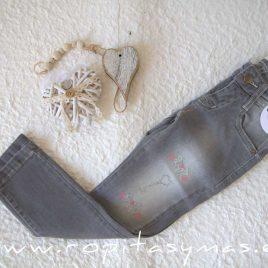 Pantalón vaquero gris lazos ALEGRÍA de KAULI, invierno 2021