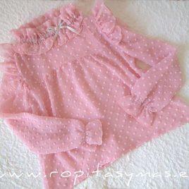Blusón plumeti rosa ALEGRÍA de KAULI, invierno 2021