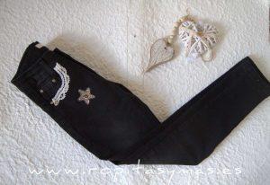 Pantalón vaquero negro TWEED de KAULI