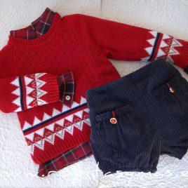Jersey rojo niño PREPPY de KAULI, invierno 2021