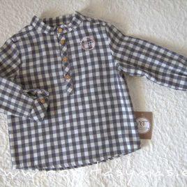 Camisa niño vichy gris GAIA de NOMA, invierno 2021